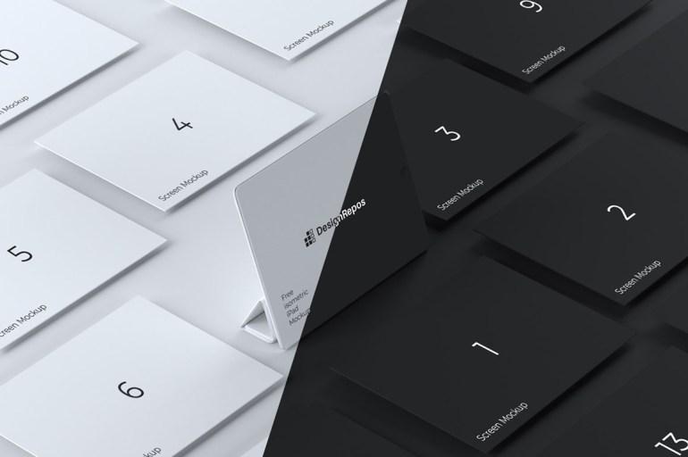 Isometric iPad Showcase Mockups