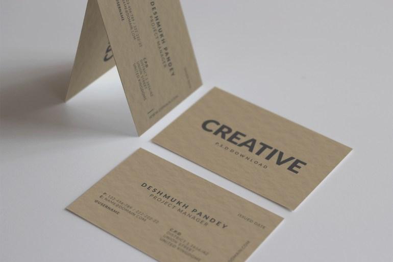 Minimal Classic Business Card Design Free Psd