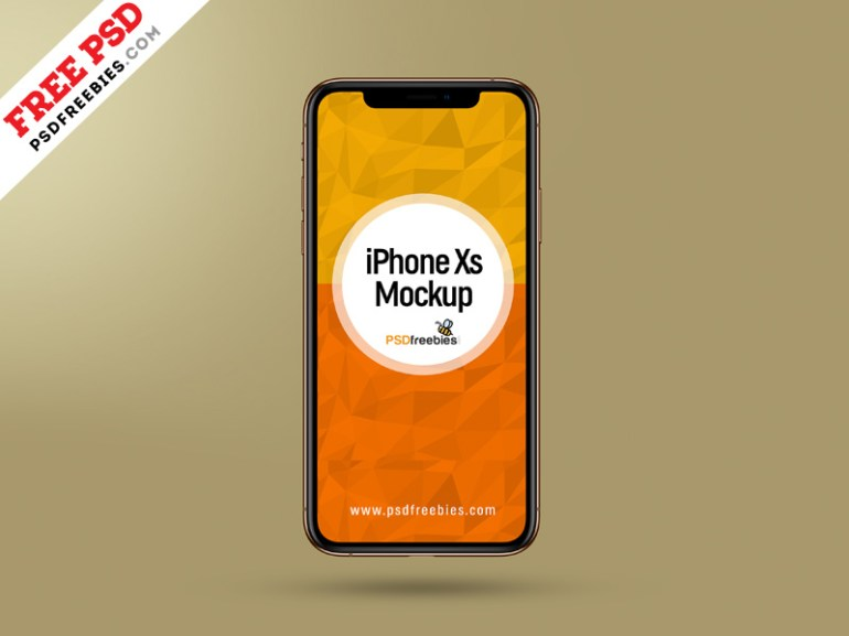 Apple iPhone Xs Mockup PSD