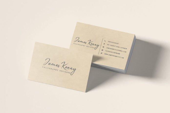 Free Minimal Designer Business Card Template