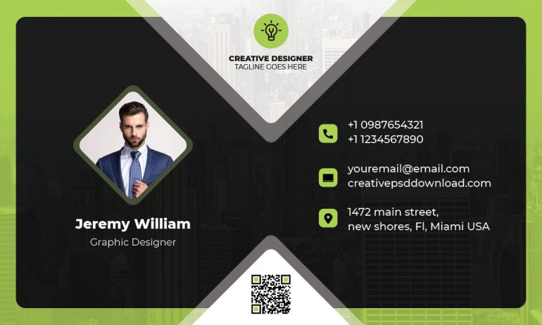 business card free psd