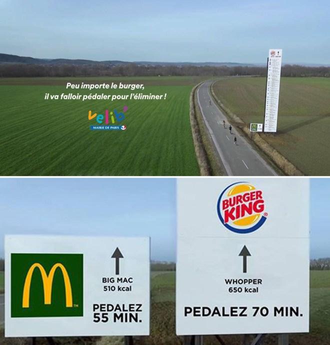 Vlib réagit sur l'opération de burger King