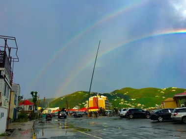 Double Rainbow in Road Town Tortola, BVI