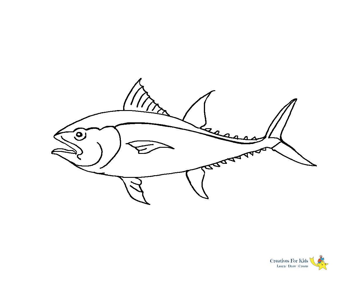 Fish Coloring Pages Kiddo