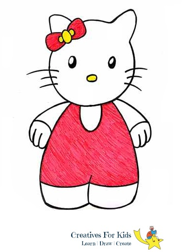 How To Draw Hello Kitty Step By Step Tutorial