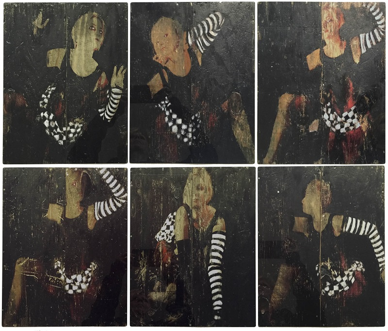 Dot Krause images printed on aluminum panels at Roland DGA
