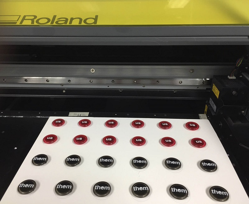War Zone game pieces printed on Roland VersaUV LEF-300