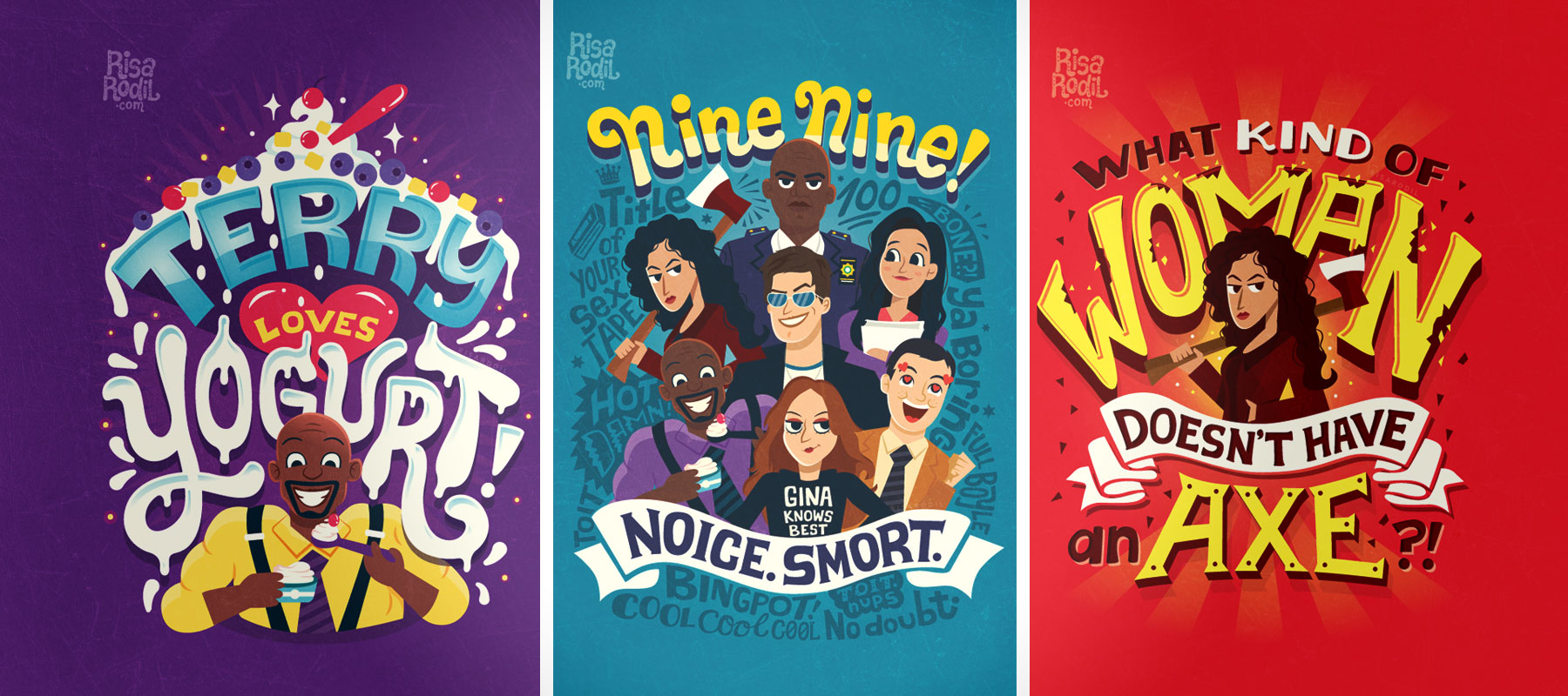 brooklyn nine nine quote posters by