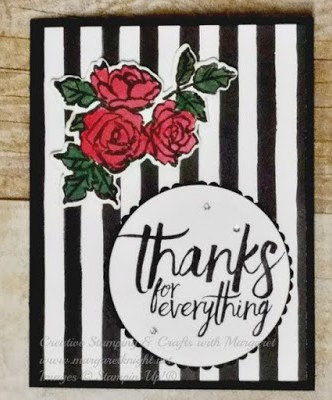 Stampin' Up! Petal Palette & All Things Thank Stamp Sets, Brusho Crystal Color and Petal Passion Designer Series Paper (DSP)