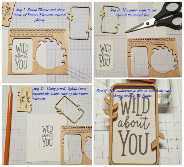Cutting tip for using the Stampin' Up!  Frames Elements