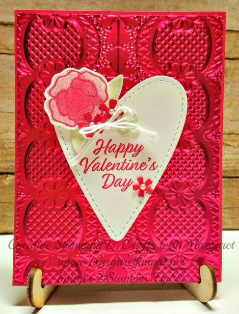 Valentine's Day Card Featuring Lovely Lipstick Foil Sheets, Forever Lovely And Meant to Be Stamp Sets