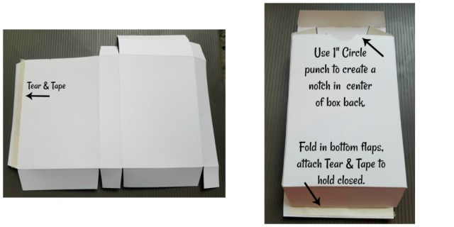 Final steps to complete Note Card Box