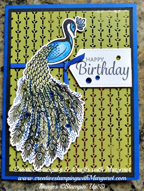 Royal Peacock Happy Birthday Card