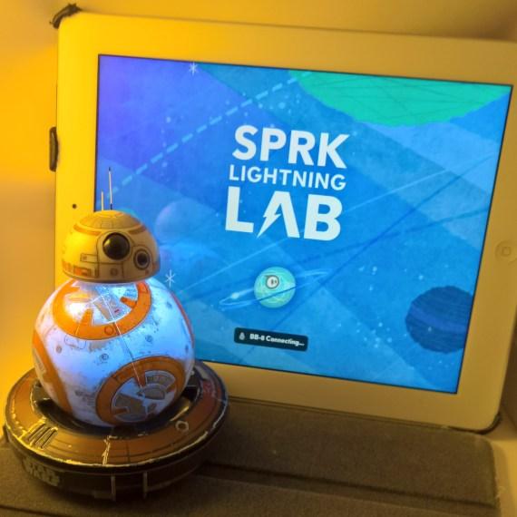 BB-8 Star Wars SPRK lightning lab app