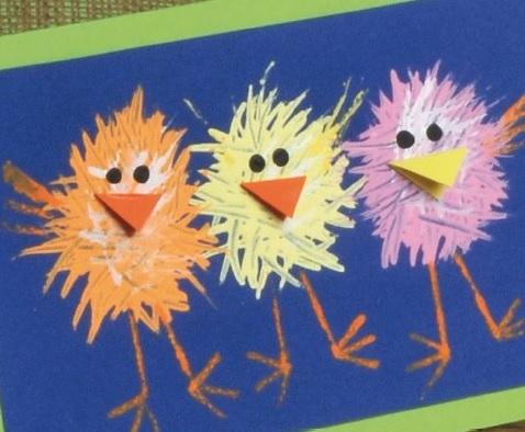 Fork Painted Fuzzy Chicks Creative Steps Creative Steps