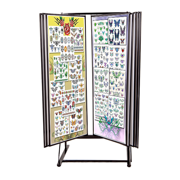 Some items are one-of-a-kind and some may be limited edition. Tattoo Flash Rack Tattoo Display Rack Creative Store Solutions