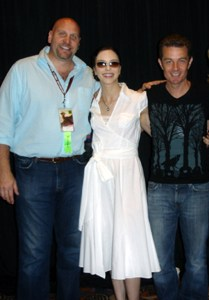 Ken Feinberg, James Marsters, &  Juliet Landau.  The Buffy Love triangle reunites at Dragon*Con
