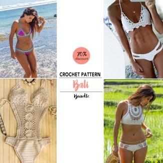 crochet bikini pattern bundle
