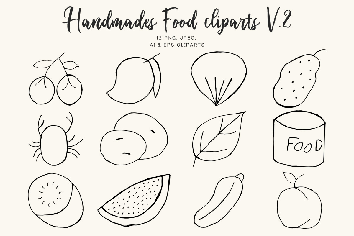 Free Handmade Food Clipart Ver 2