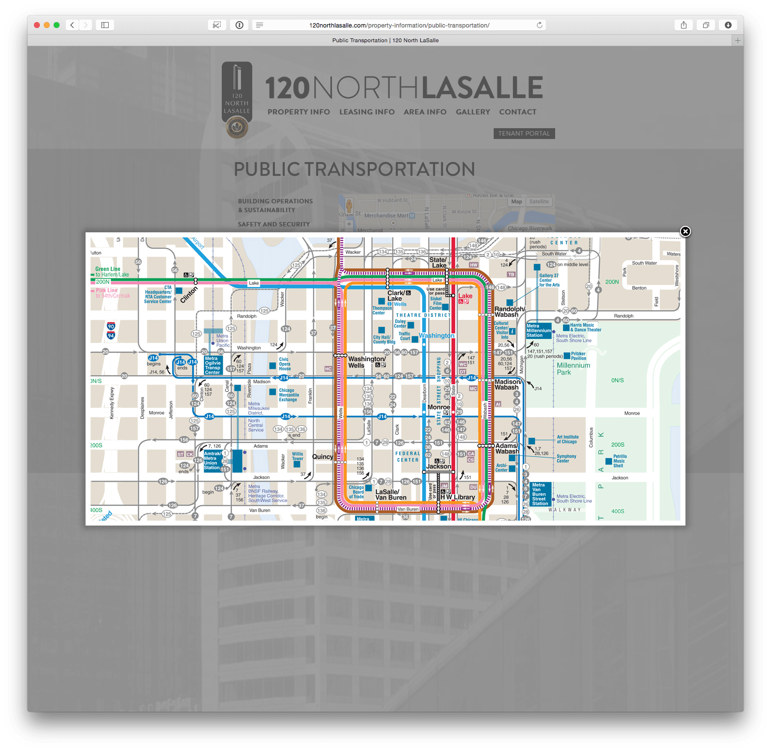 120NorthLasalle.com MTA Map View