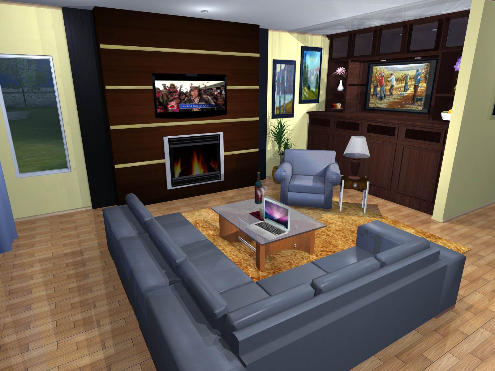 Fireplace & Living Room Re