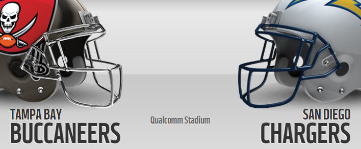Image result for Buccaneers vs. Chargers