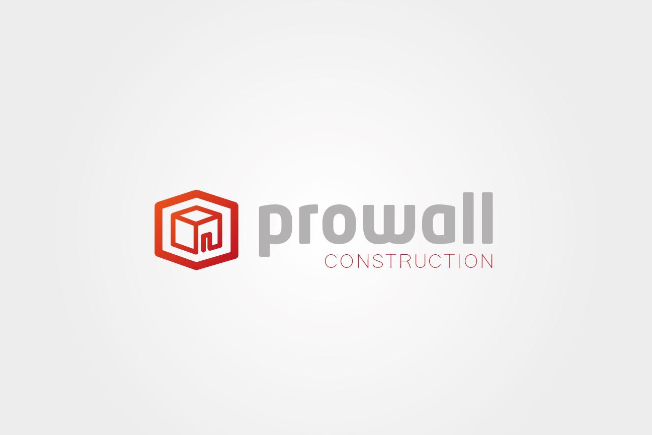 Logotyp firmy Prowall Construction.