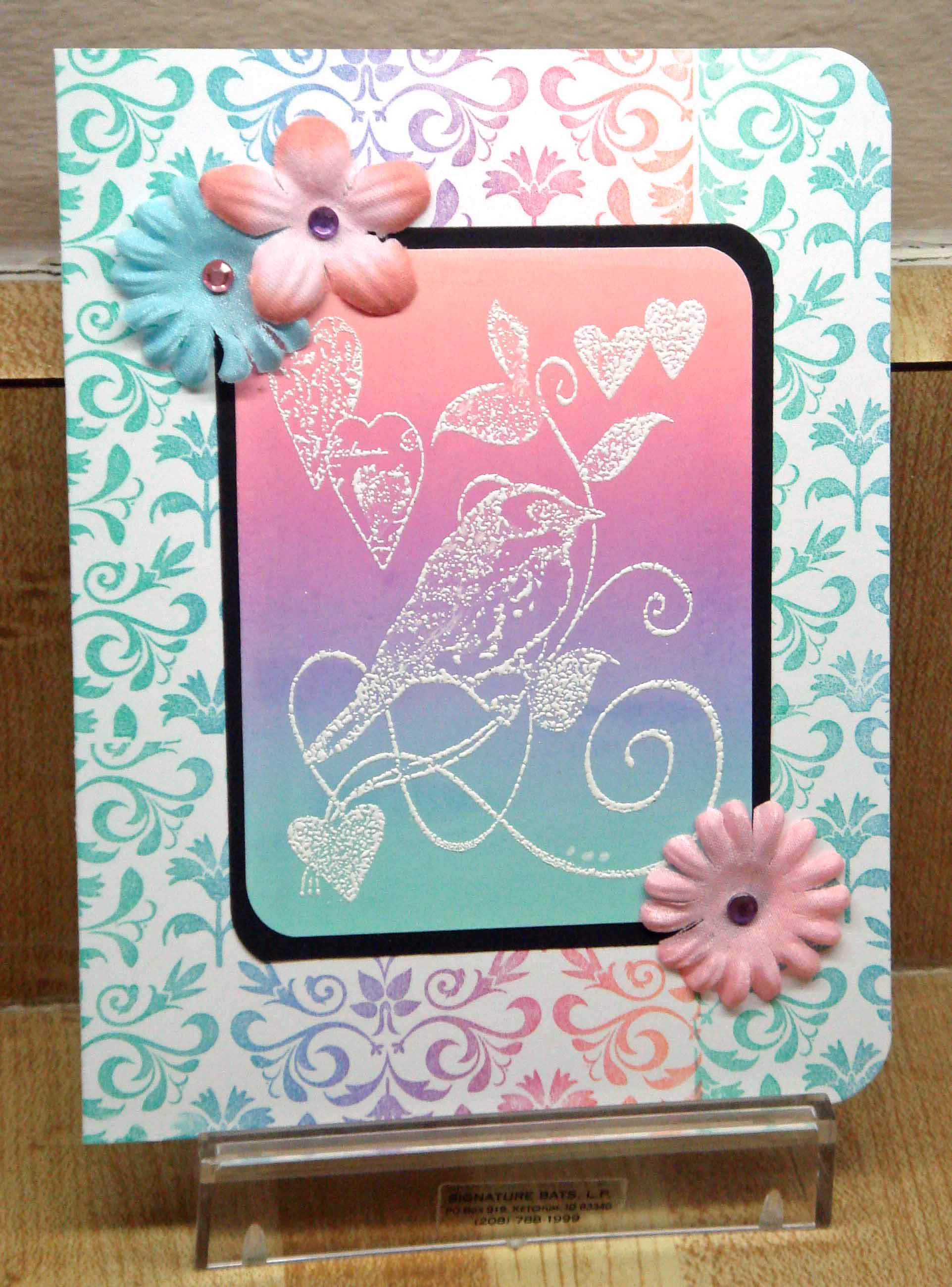 hero cling pastel brocade & crafty birds