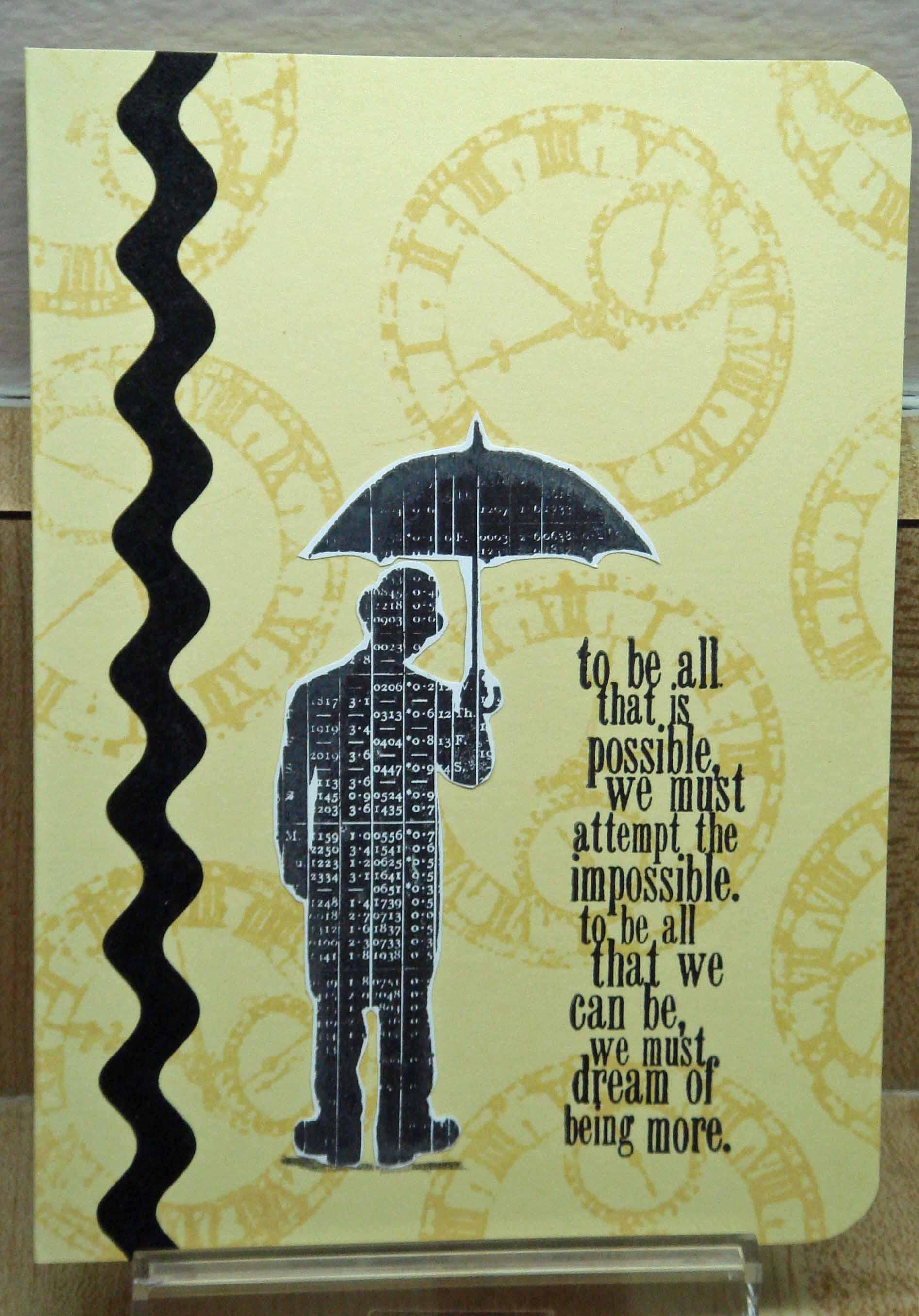 yellow set umbrella man