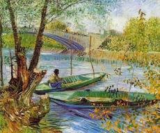 """Fishing in Spring, the Pont de Clichy"""