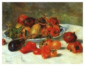 'Fruits of the Midi' by Pierre Auguste Renoir in 1881 (oil on canvas)