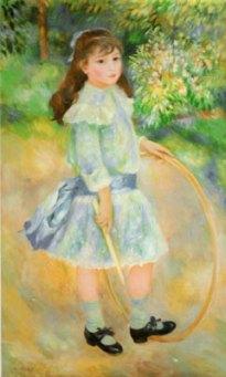 Girl with a Hoop by Pierre-Auguste Renoir in 1885