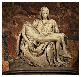 Pietà by Michelangelo Buonarroti 1498-99 (marble)