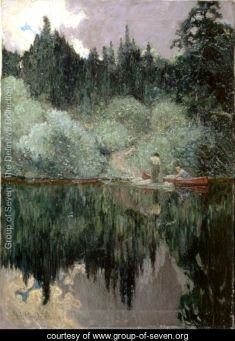 Clearing After Rain, Maganatawan River, Ontario by J.E.H. MacDonald in 1910