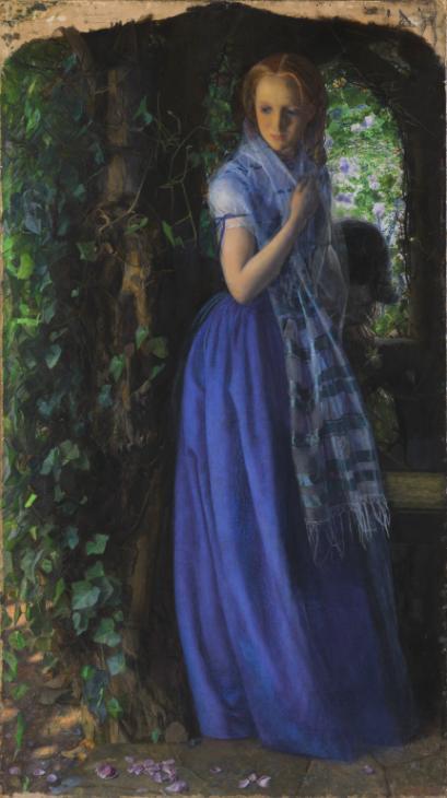 April Love by Arthur Hughes in 1855-1856