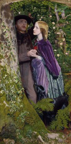 The Long Engagement by Arthur Hughes in 1859.