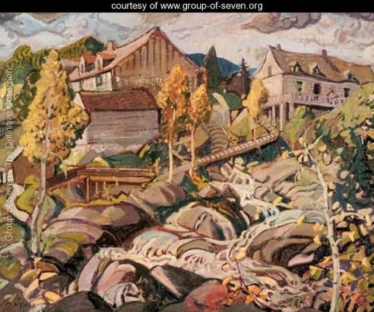 The Mill, Quebec by Arthur Lismer
