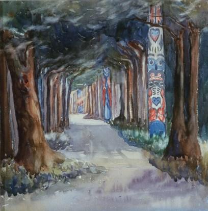 Totem Walk at Sitka 1907