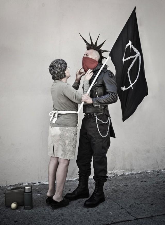 punk with mum