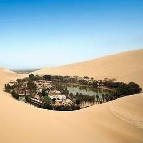 The Huacachina Oasis in Peru
