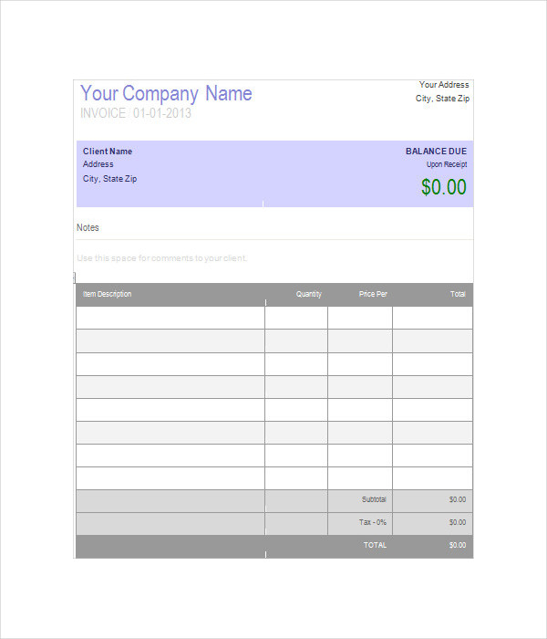 Cashboard Invoice Template