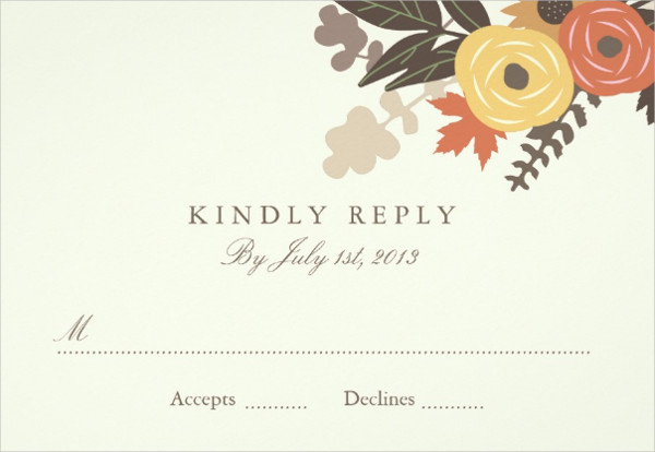 Fall Foliage Wedding Invitation Postcard