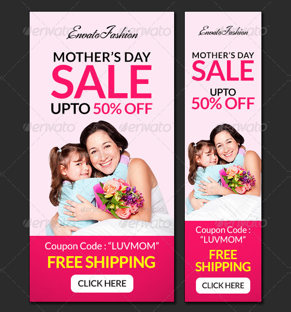 Metro Design Mother's Day Banners