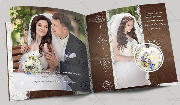 Wedding Photo Album Milk Chocolate