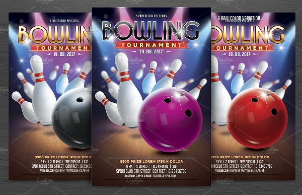 Bowling Tournament Flyer Template