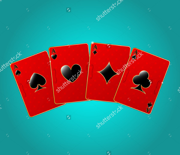 Mockup Of Red Playing Cards