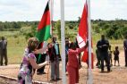 C and M raise flags