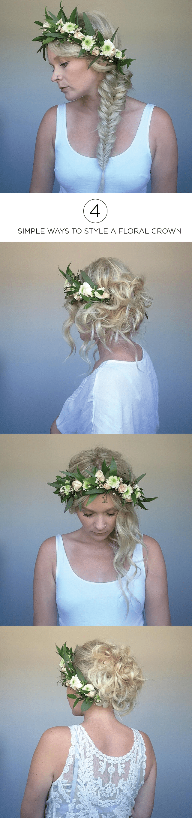 Four ways to style a floral crown easy and simple