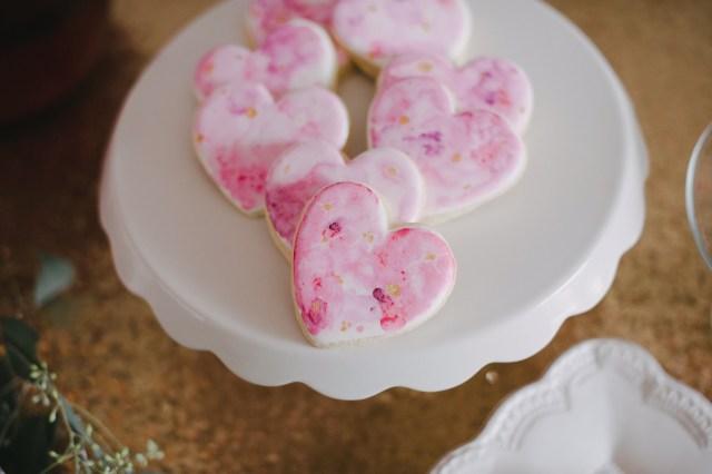 gorgeous pink watercolour heart cookies | Creative Wife & Joyful Worker