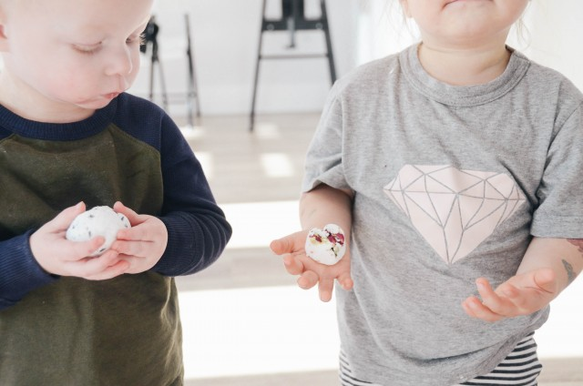 DIY bath balms workshop with kids | Tiny Fern